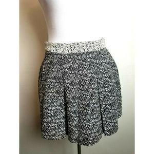 Banana Republic Skirt Mini black 2P pleated work